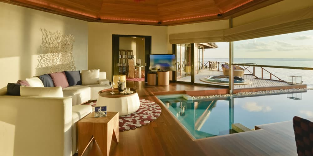 Magnificent indoor-outdoor pool in private room