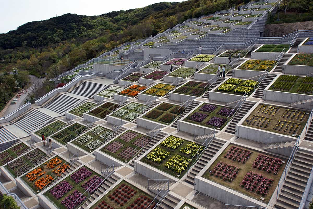 The 100 Terraced Garden Squares in Awaji Yumebutai, Japan