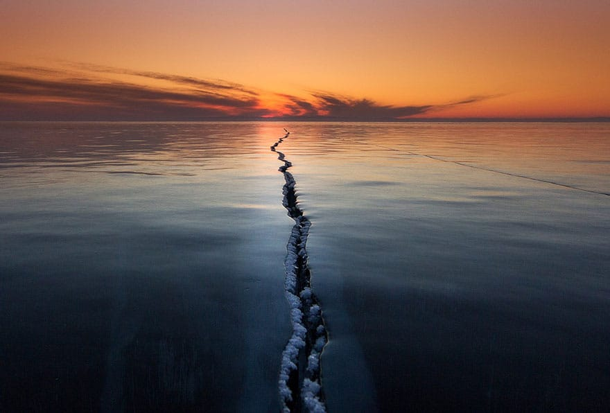 Cracking the Surface, Lake Baikal, Russia