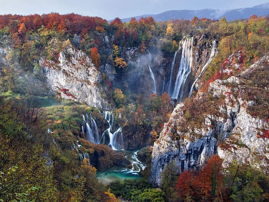 Falls In Autumn, Plitvice Lakes National Park, Croatia