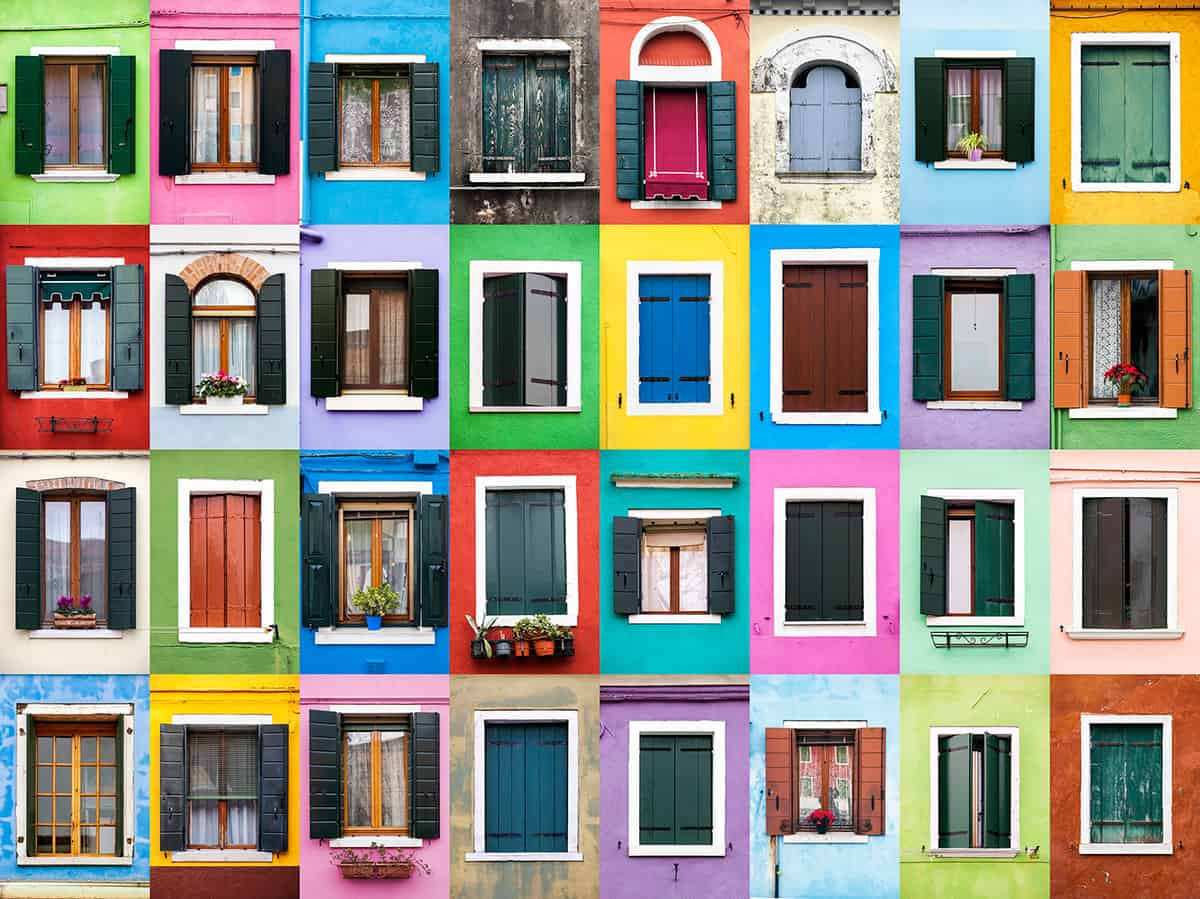 Windows of Burano