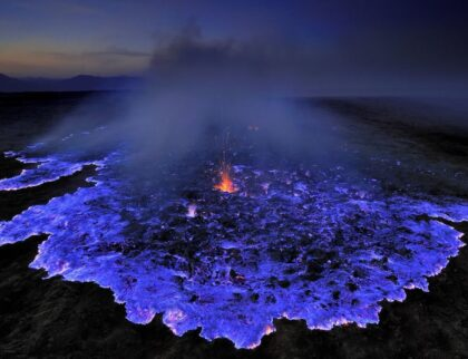Electric-Blue Lava