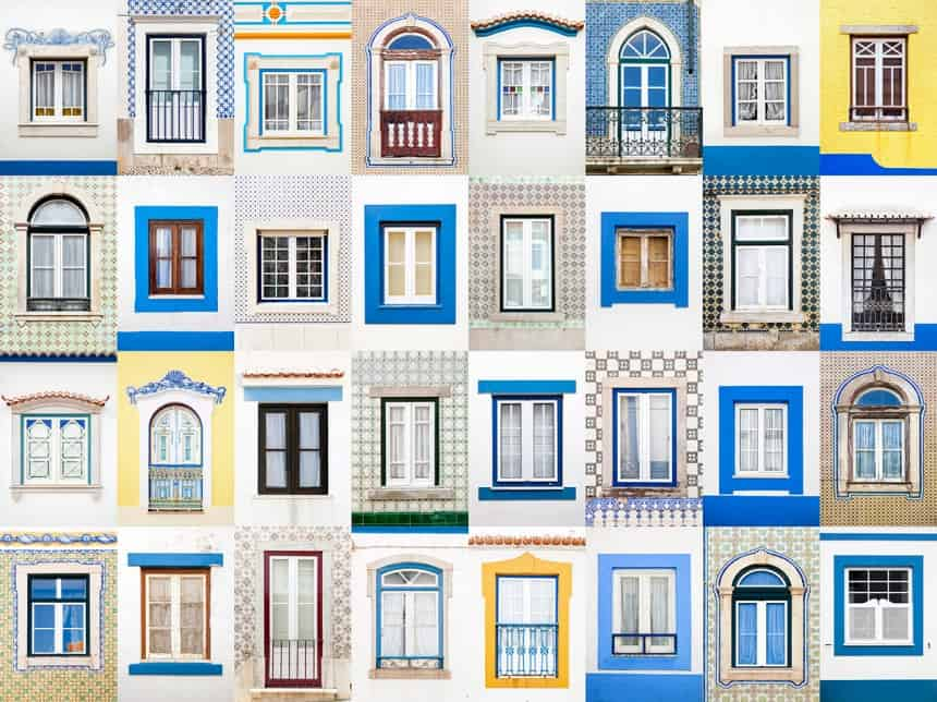 Windows of Ericeira, Portugal