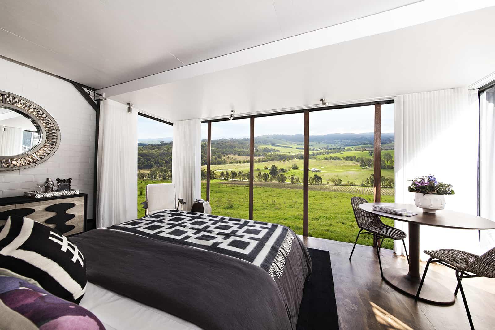View over Yarra Valley, Tarra Warra Estate, 1 hour from Melbourne, Australia