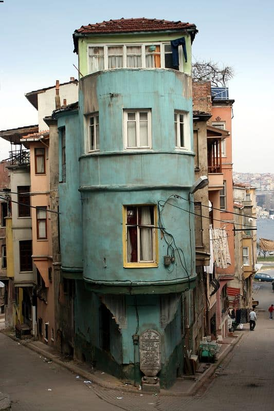 Surreal building, Istanbul, Turkey