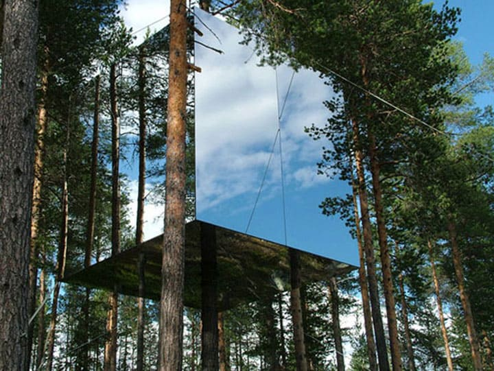 Treehotel the cube exterior