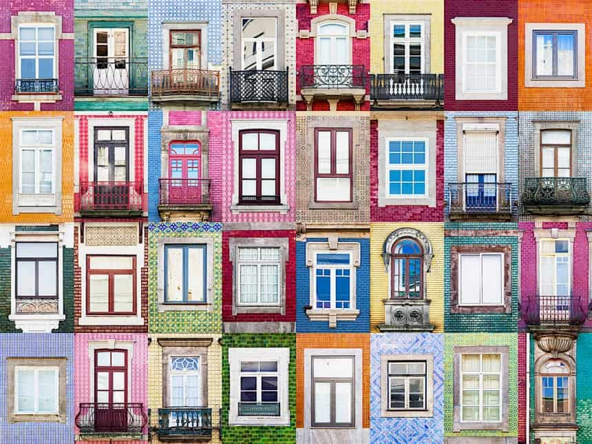 Windows from Porto, Portungal