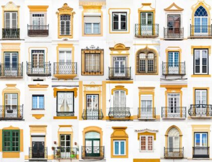 Windows of Évora, Portugal