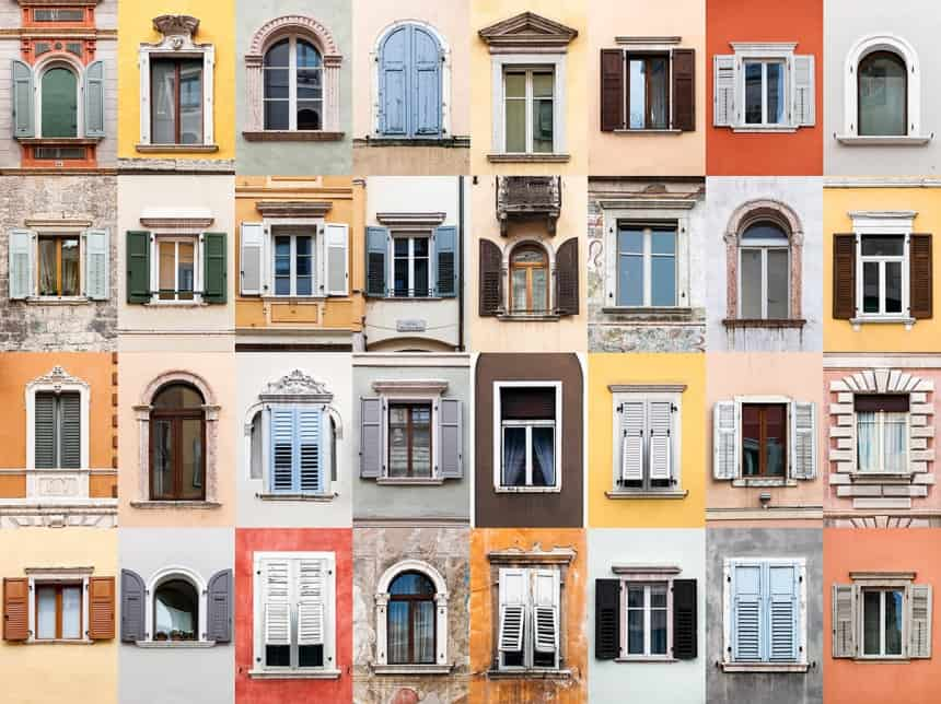 Windows of Barcelona, Spain