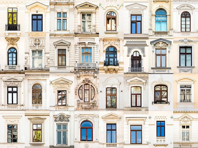 Windows of Bucharest, Romania