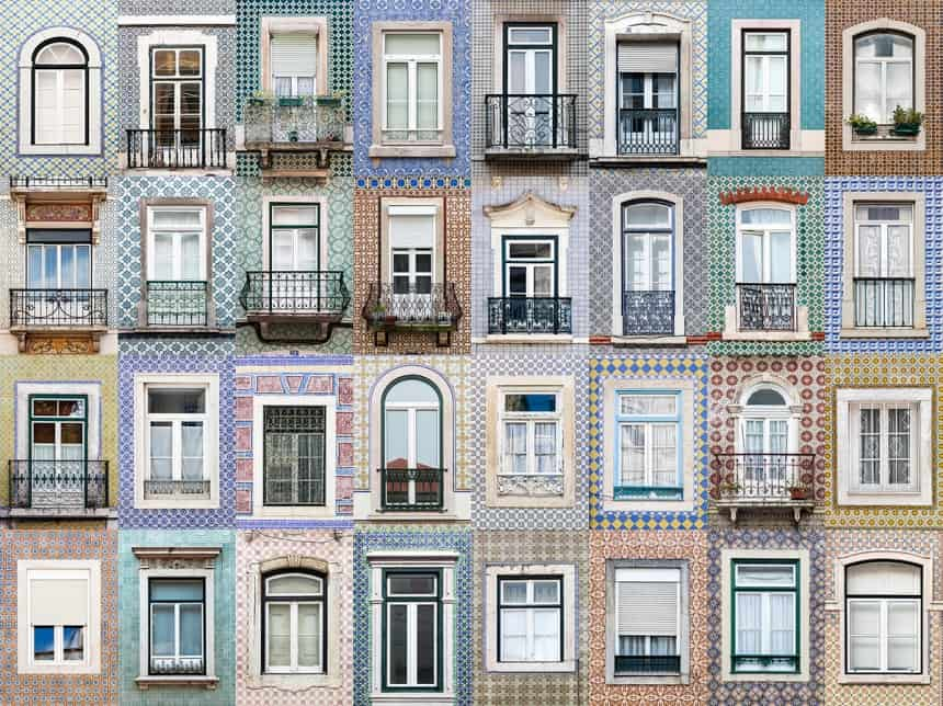 Windows of Lisbon, Portugal
