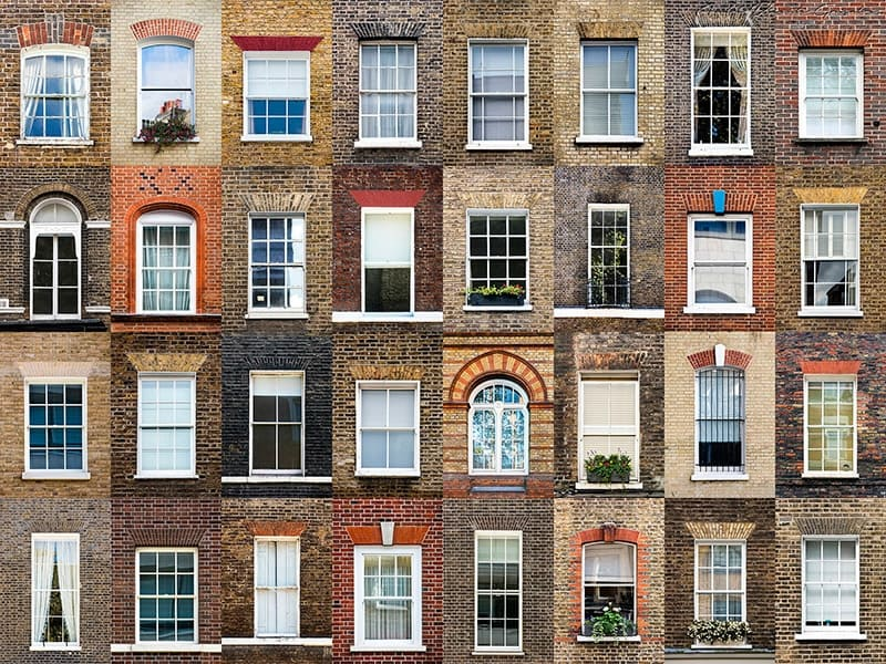 Windows of London, England