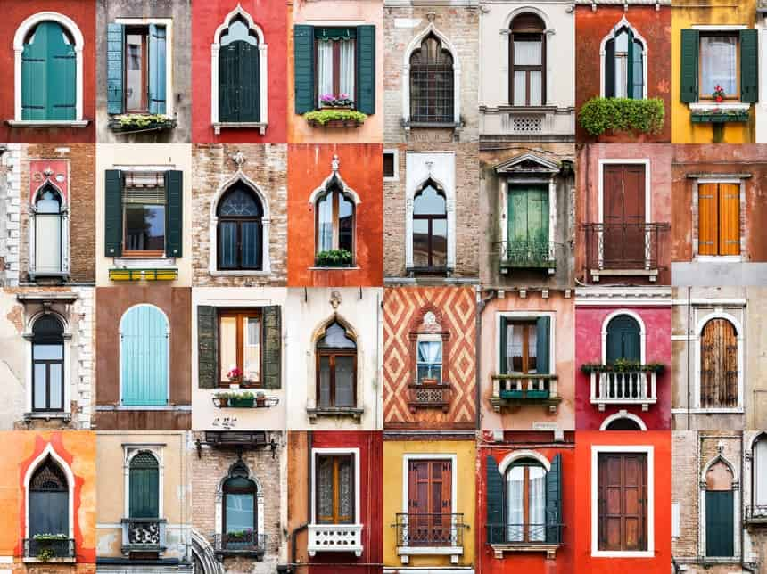 Windows of Venice, Italy
