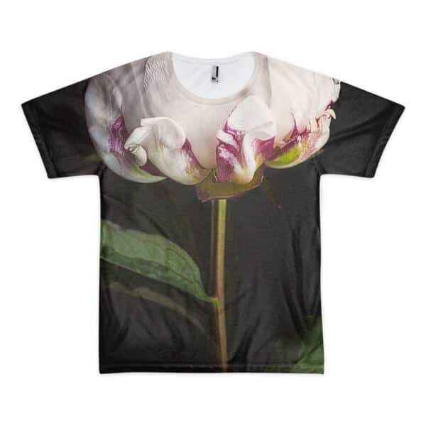 blooming flower black t-shirt
