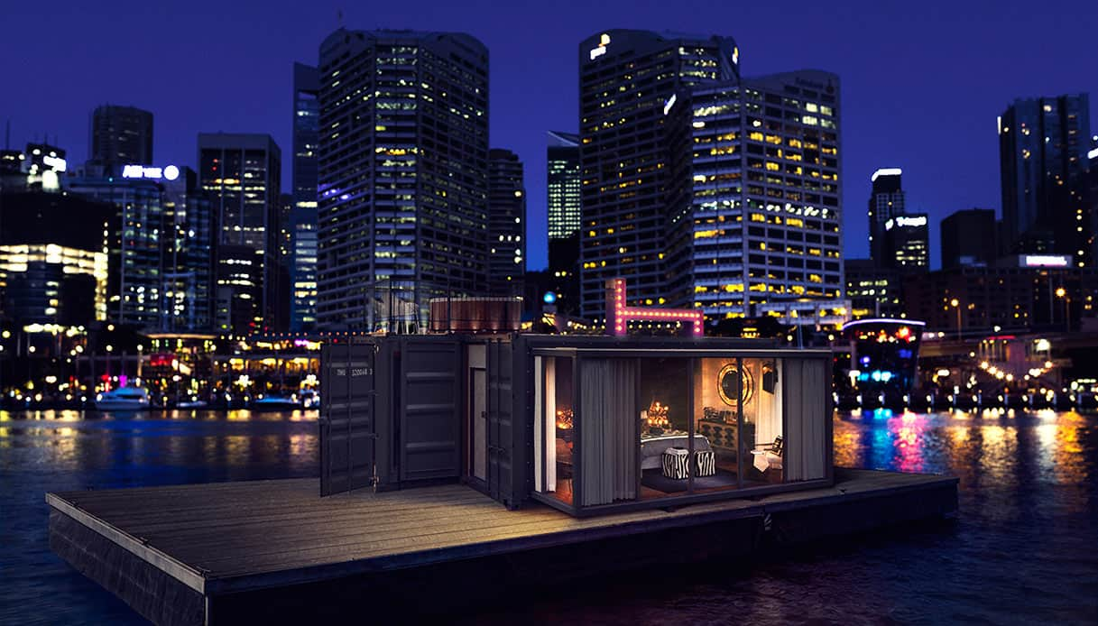 HotelTonight's pop-up room floating in Sydney