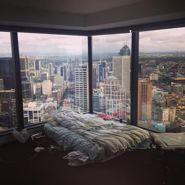 I'd rather sleep here