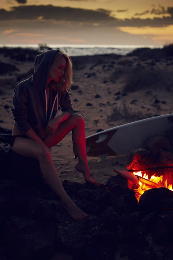 Camp fire girl