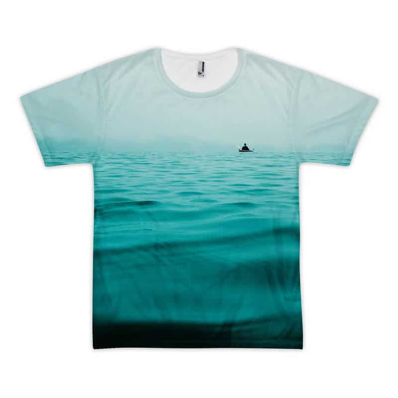 Lost on the sea full printed t-shirt