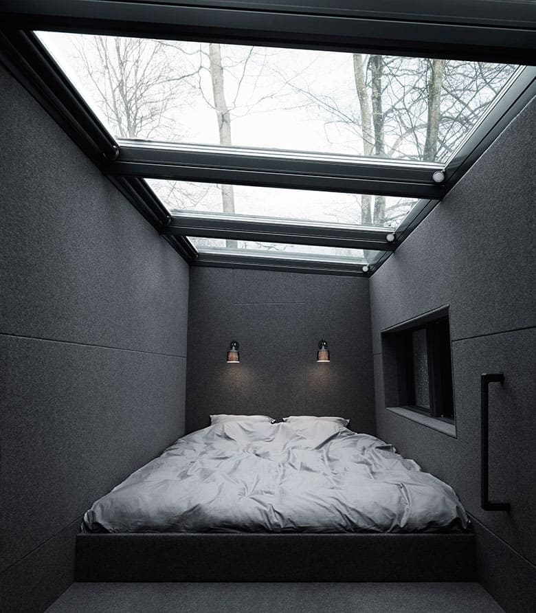 Vipp's bedroom. Sleep under the starry night.