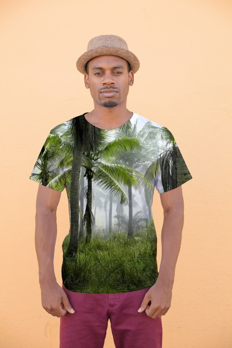 wild palms exotic printed tee
