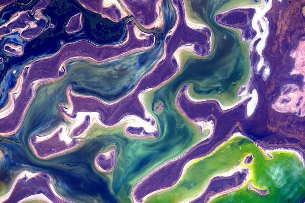 Lake Tengis, Kazakhstan seen from space.