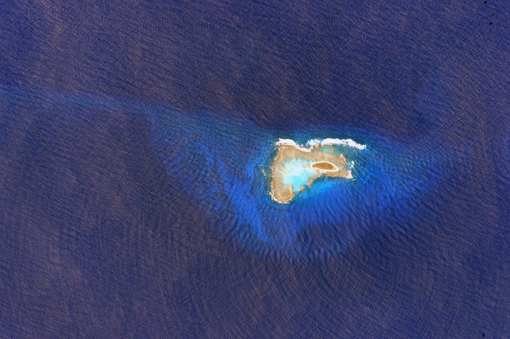 A tiny island in a big ocean.
