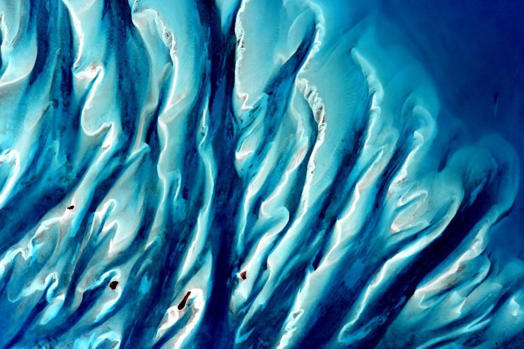 Sand, sea, and islands in the Bahamas. Scott Kelly / NASA