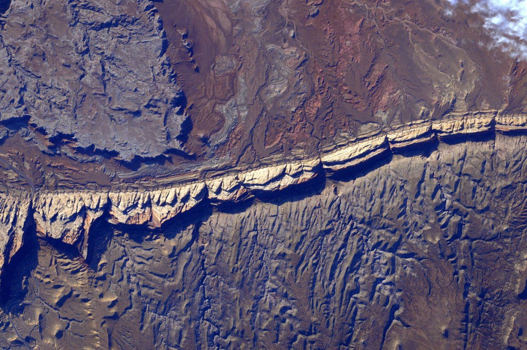 San Rafael Reef, Utah seen from the International Space Station by Scott Kelly.