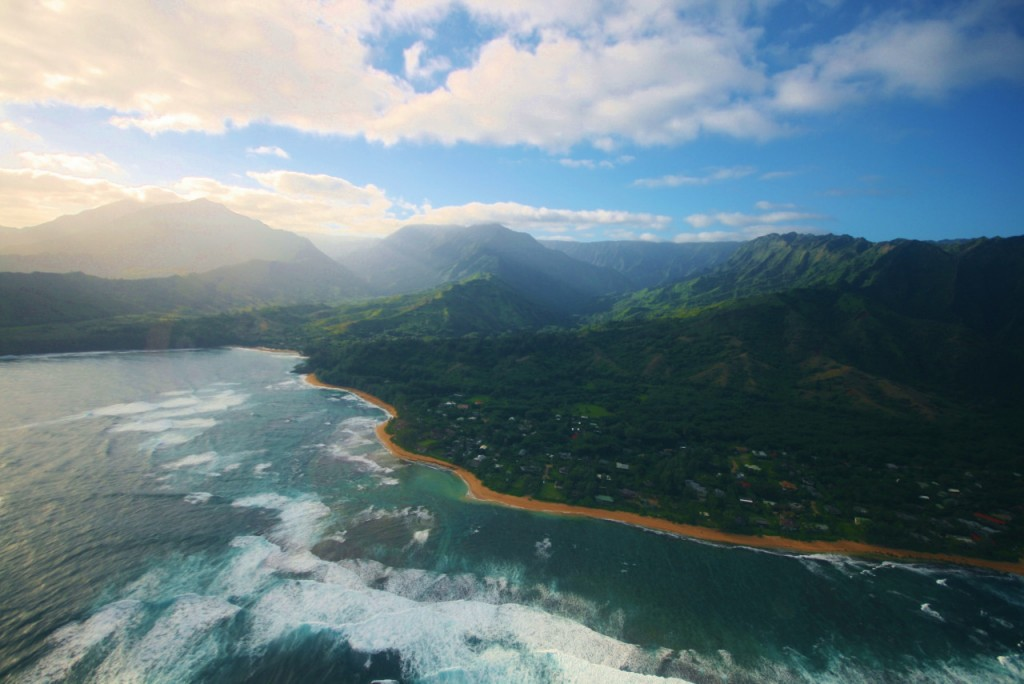 Hawaii from helicopter