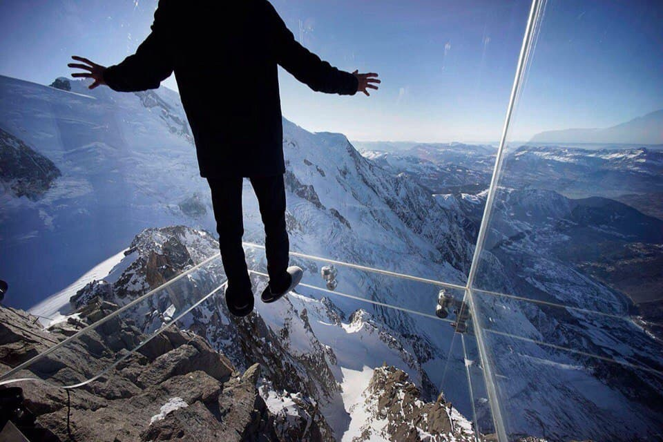 Step into the Void is a tourist attraction in Chamonix, France