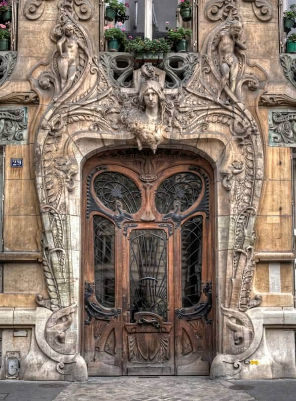 Amazing door in the 7th arrondissement of Paris at 29 Avenue a few steps from the Eiffel Tower