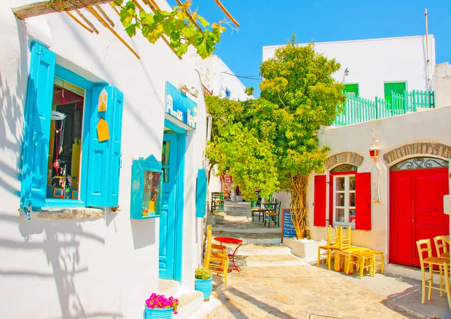 Amorgos Island, Greece, an island not many tourists know about filled with ruins from ancient civilizations. Most buildings are restored and you guessed it, filled with vibrant colors.