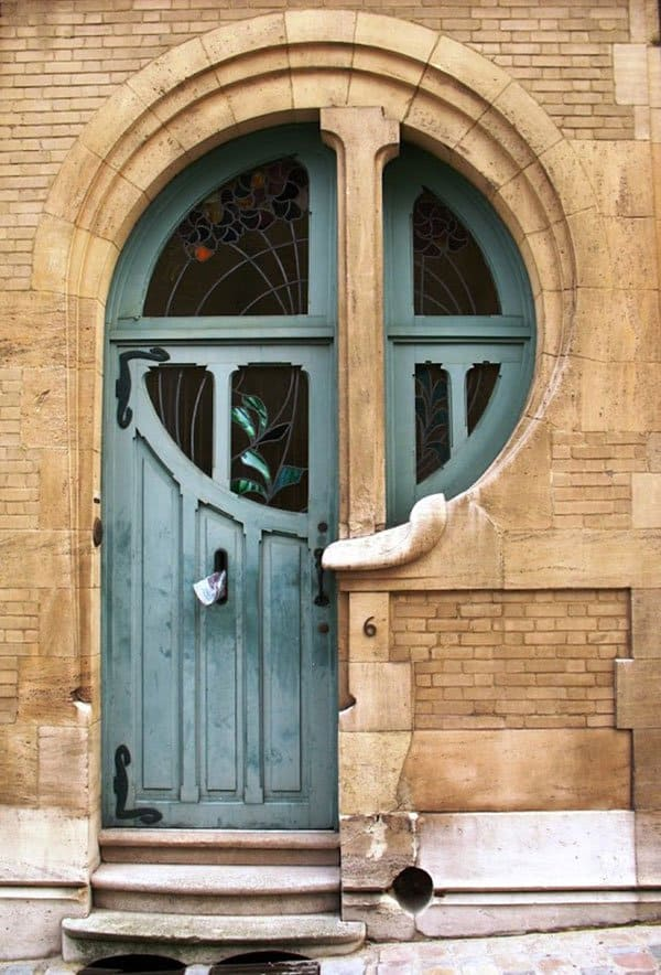 Denmark Art Nouveau Door At 6 Rue Du Lac Brussels