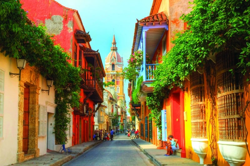 Cartagena is a vibrant city on Colombia's Caribbean coast, but its soul is within the walls of its Old Town, filled with 16th century plazas and colorful colonial buildings.