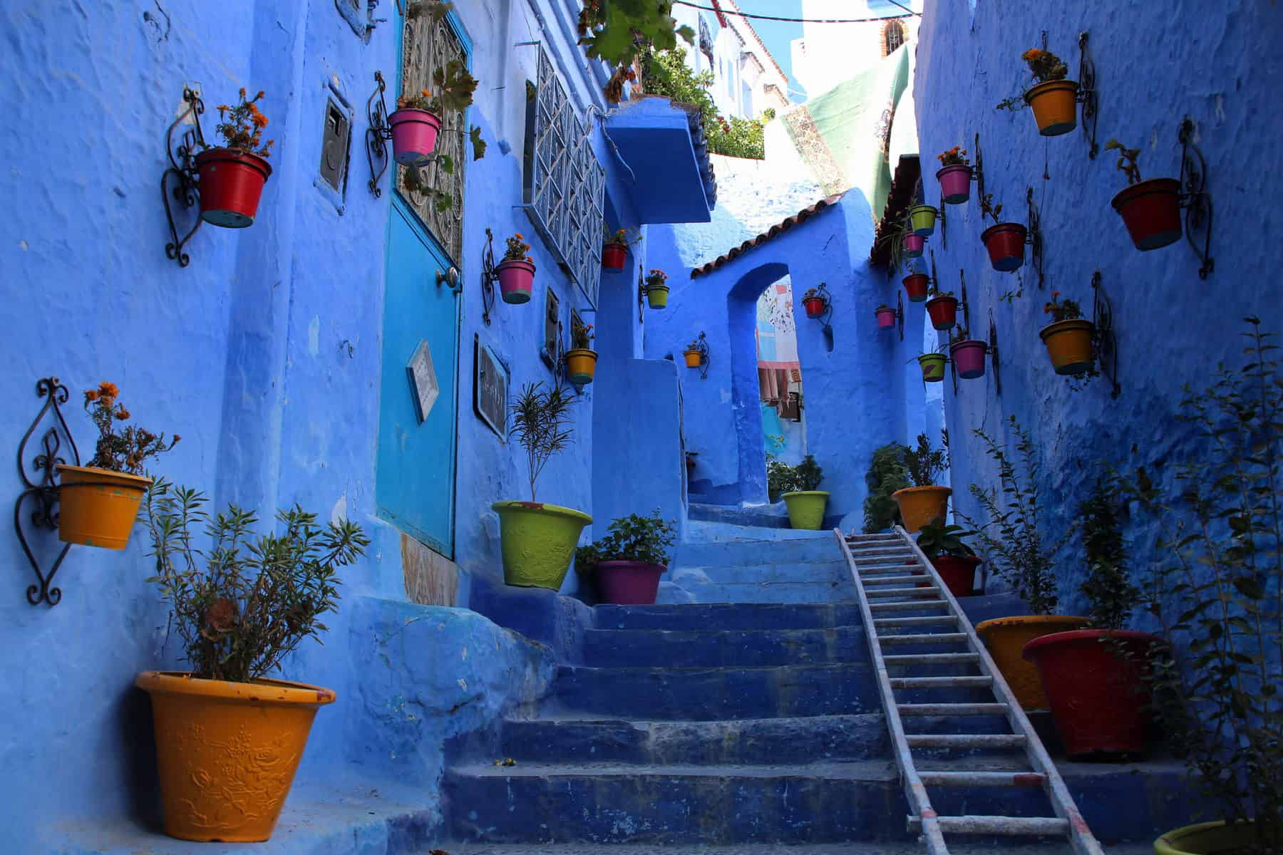 Most Colorful Cities In The World Placeaholic - Old town morocco entirely blue