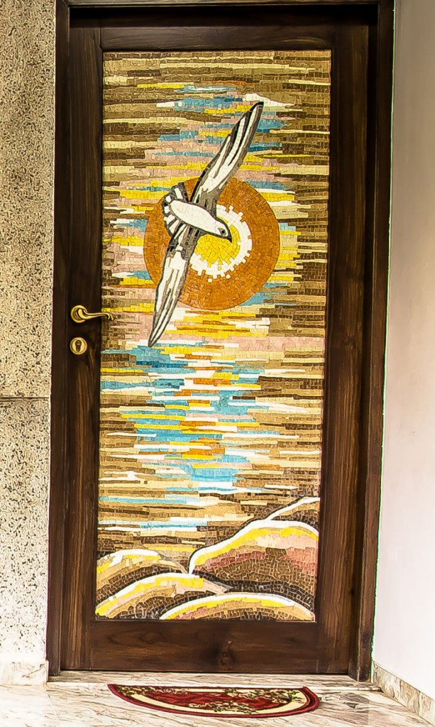 Door Skin Made Out Of Glass Mosaic Tiles - Vadodara, Gujarat, India - Designed By Vijay Agrawal