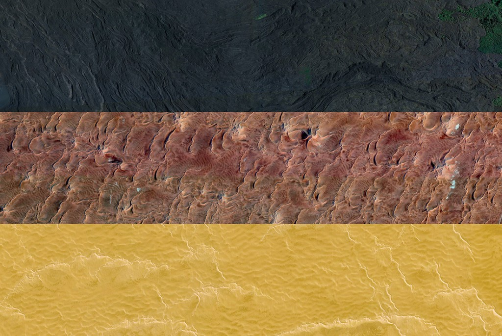Germany's flag - Satellite Photography: Italy, Algeria, Libya, 2016