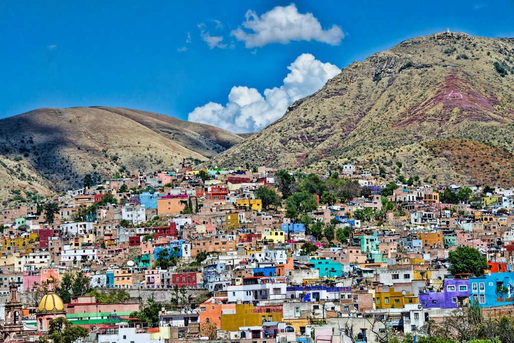 Guanajuato is a city in the heart of Mexico, situated in a narrow valley.