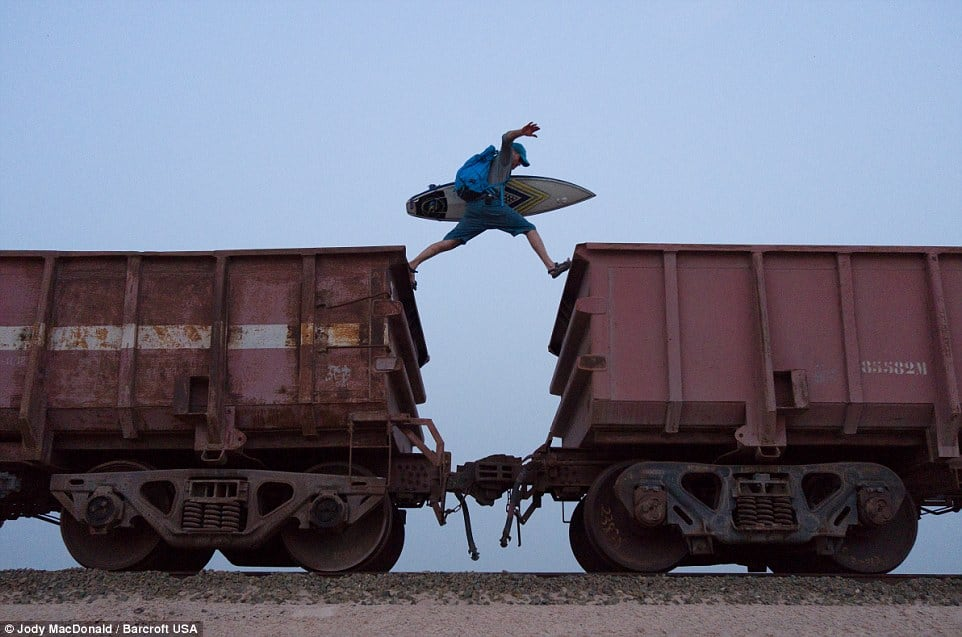 Jumping from car to car onboard one of the world's longest trains