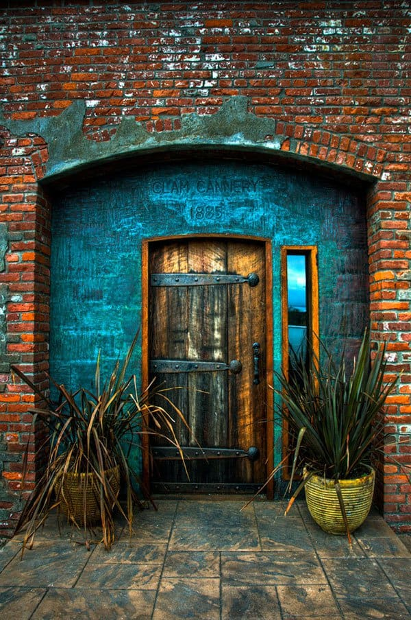 Montmartre Paris France Old Cannery Door In Port Townsend Washington