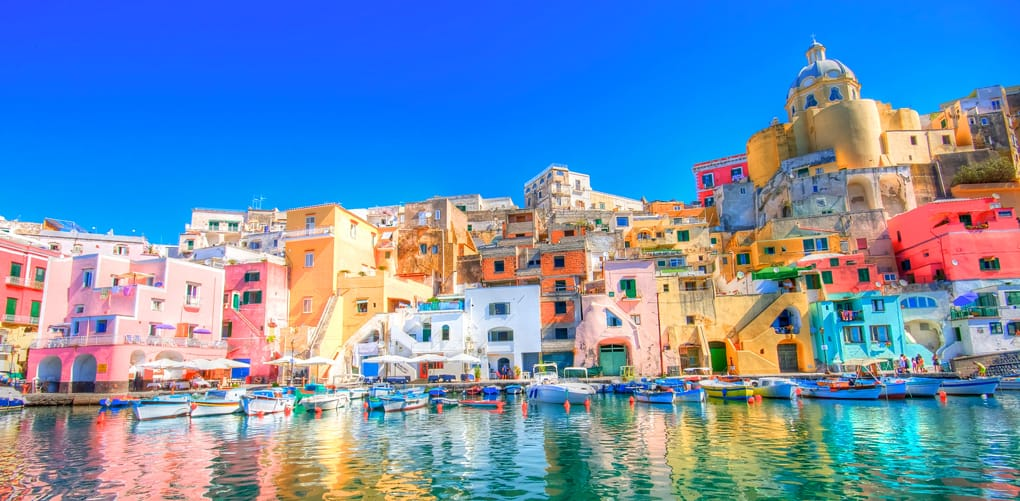 Procida is an island a few miles away from Naples, Italy.