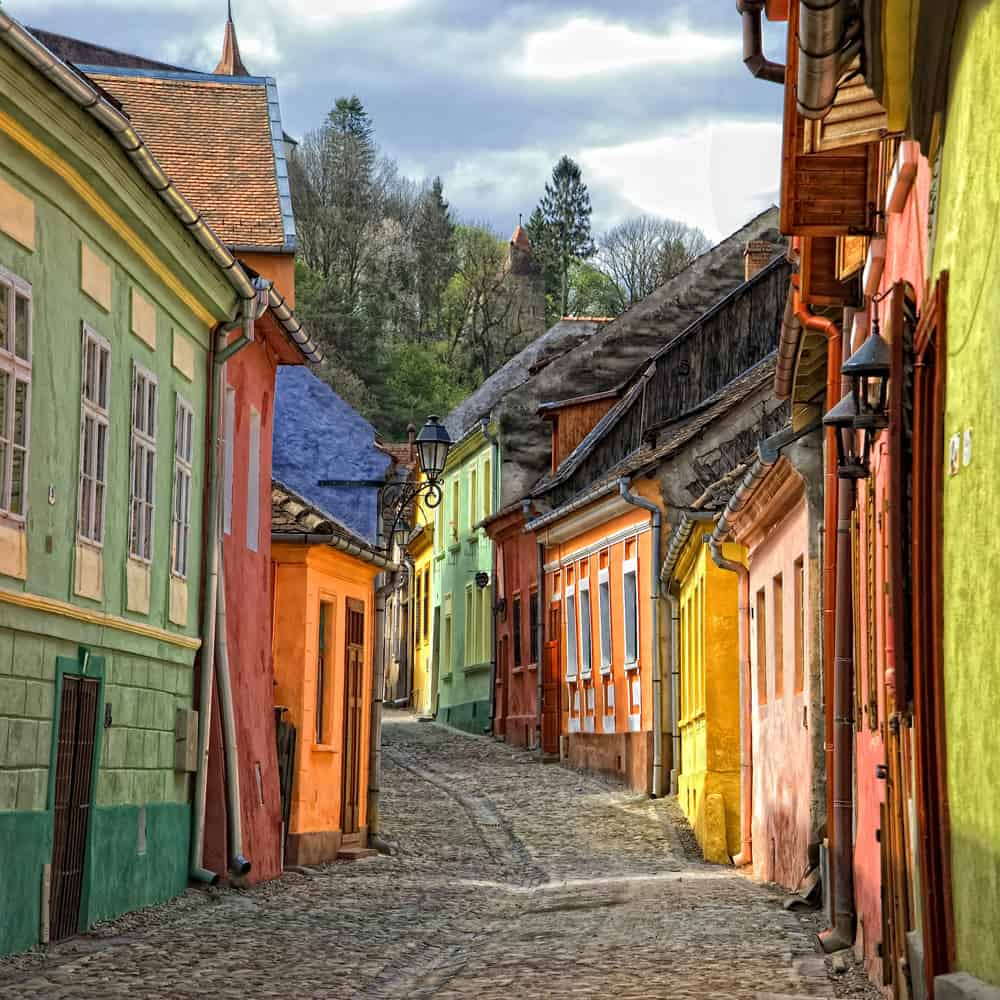 Sighisoara, Romania is a medieval fortified city in the historic region of Transylvania, listed as a UNESCO World Heritage Site.