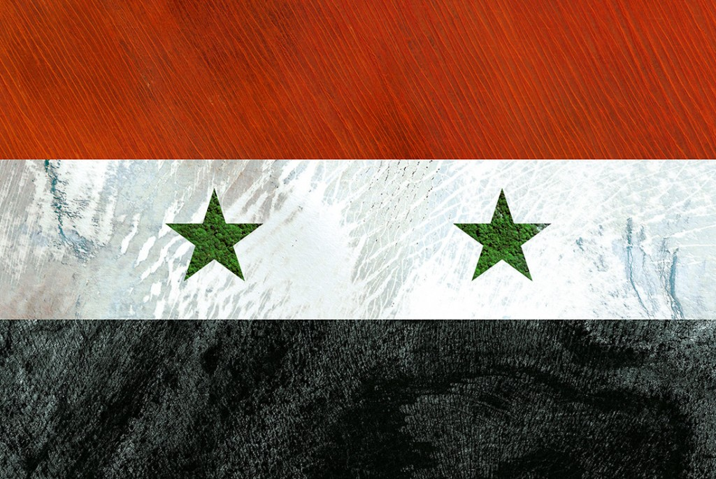 Syrian flag - satellite photography: Australia, Greenland, French Polynesia, Iceland