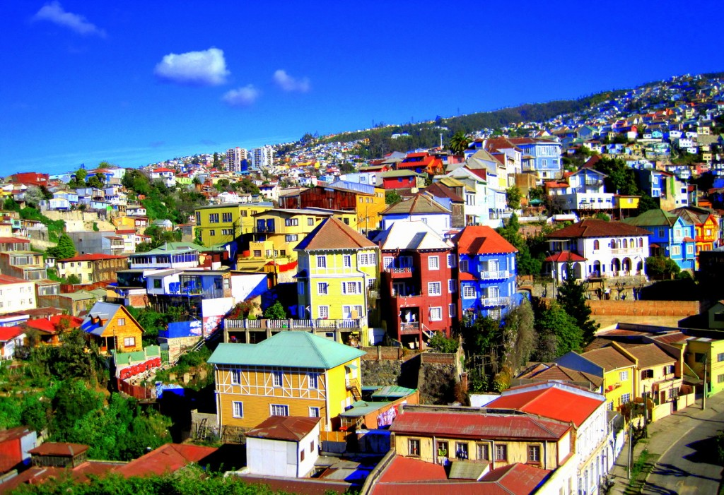 Valparaíso is a port city on Chile's coast. It's known for its steep funiculars and colorful, clifftop homes.
