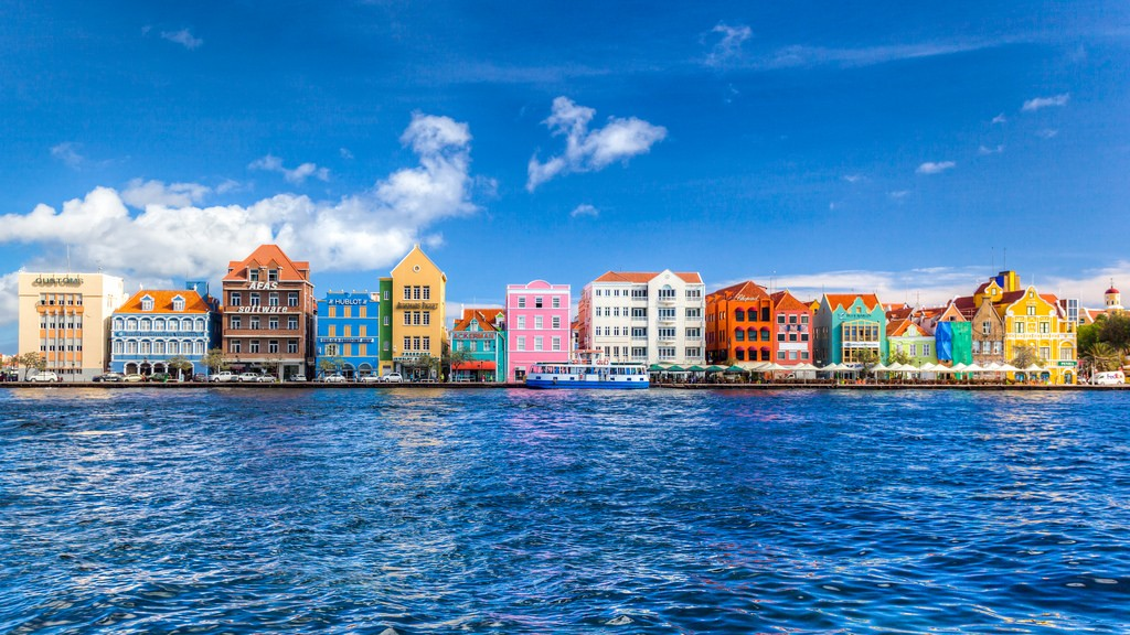 Another paradise destination that will charm you with its multicolored houses - Willemstad, the capital city of Curacao.