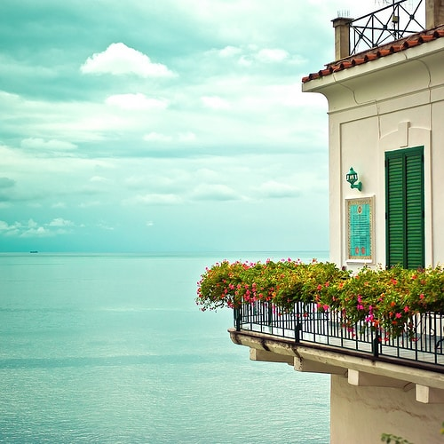 Beautiful balcony overviewing the sea