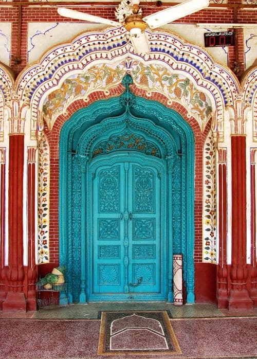 colorful doorway, India