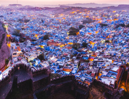 Yet another blue city, but this time in India, called Jodhpur