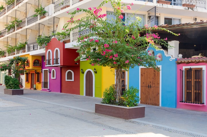 Another great holiday destination filled with happy colored houses - Puerto Vallarta, Mexico
