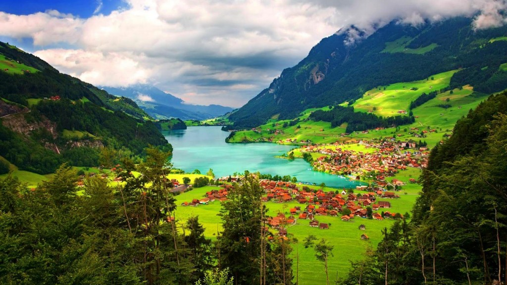 Switzerland. Also known as Breathtakingland or Peacefulland.